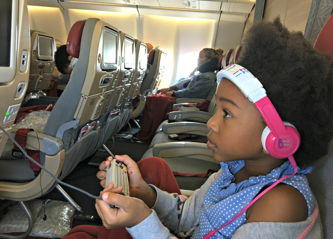Buddyphones inflight long haul travel with kids