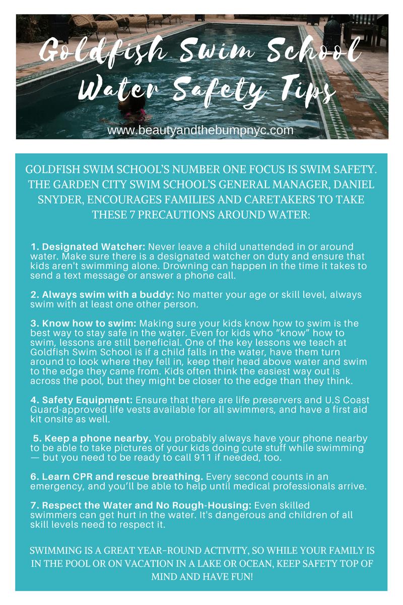 Goldfish Swim School Water Safety Tips