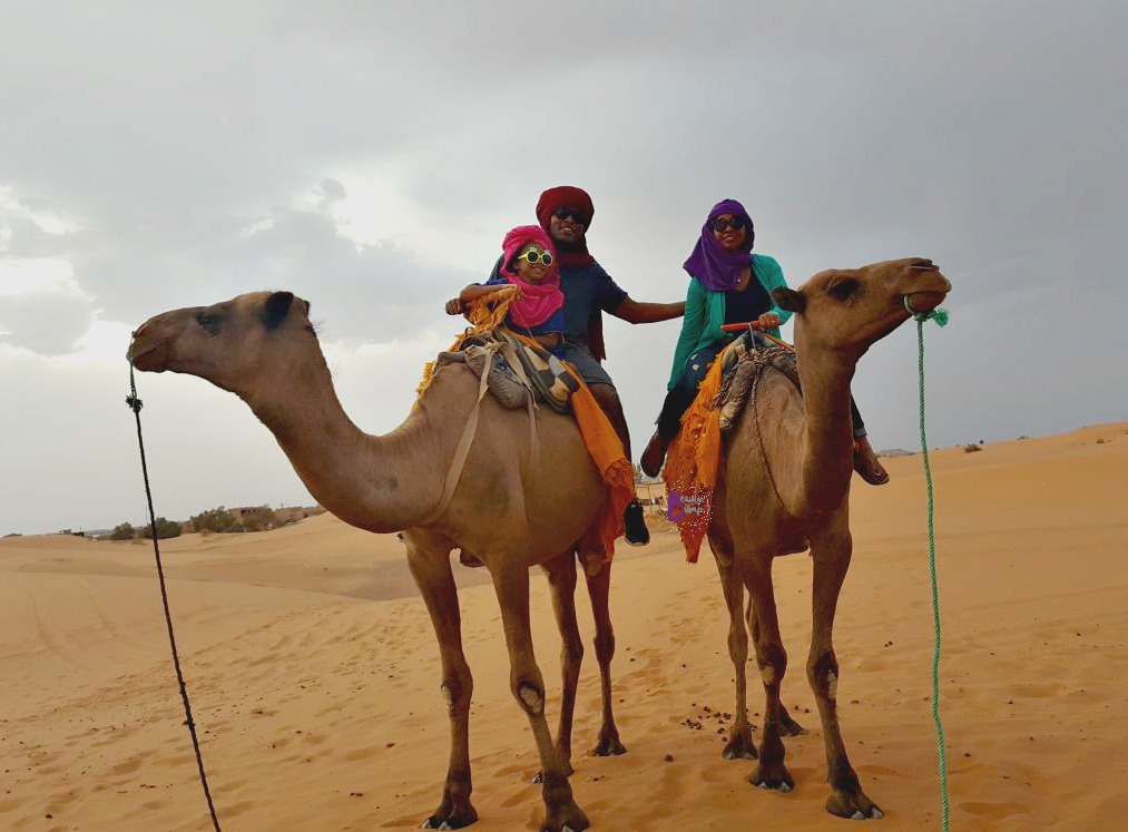 Camel Riding Kids travel to morocco