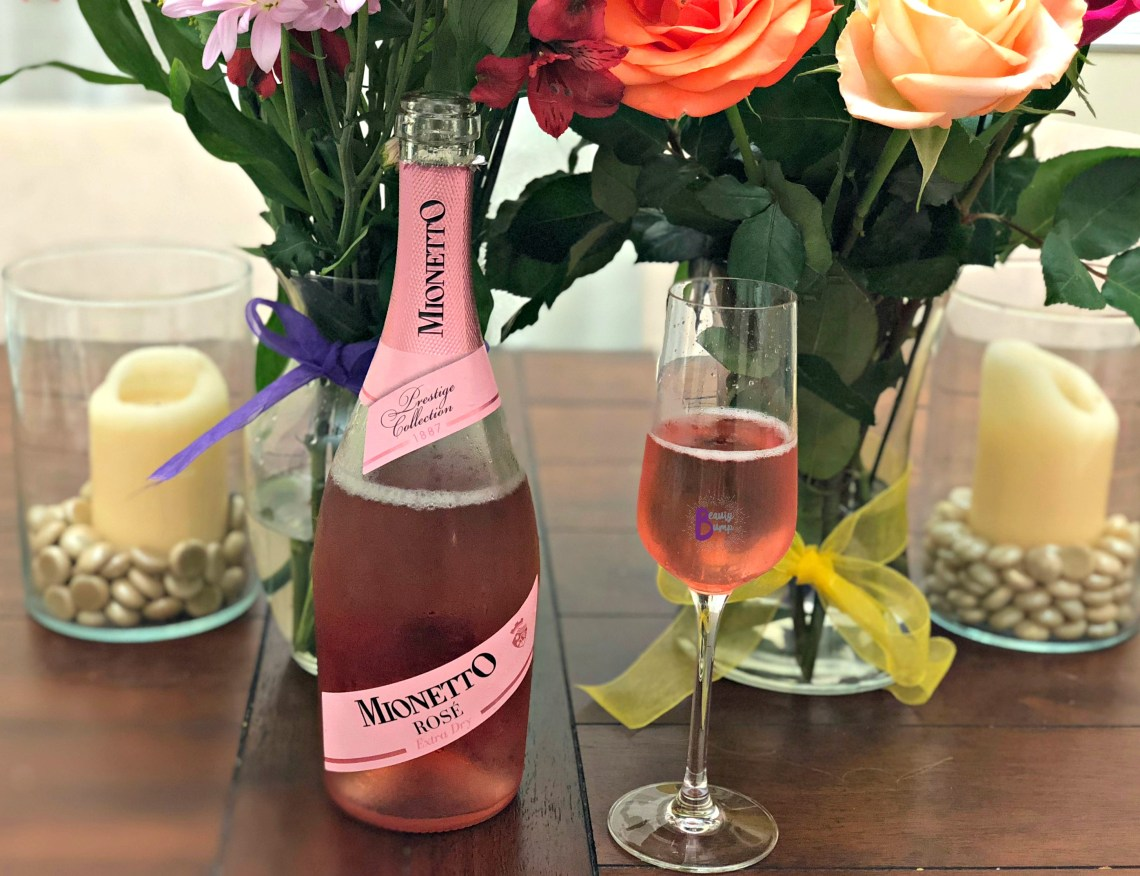 self-care for busy moms mionetto rose extra dry