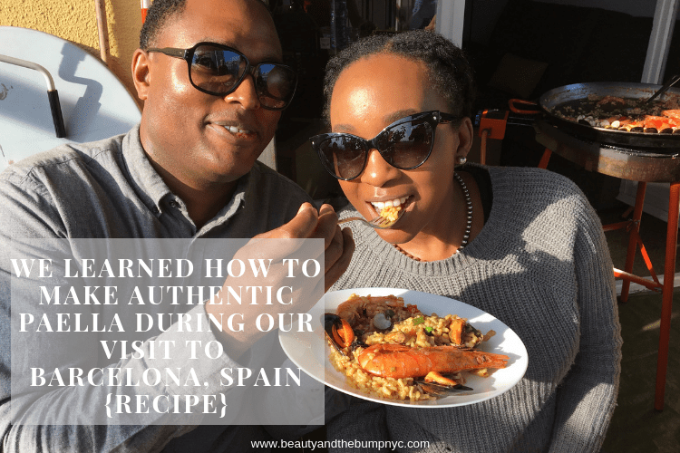 We Learned How to Make Authentic Paella in Barcelona, Spain {Recipe}