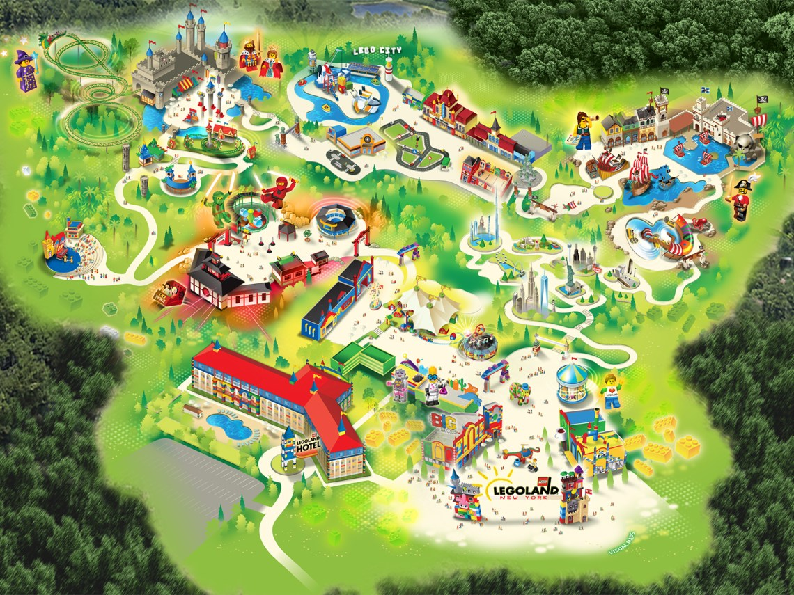 LEGOLAND® New York Resort Map