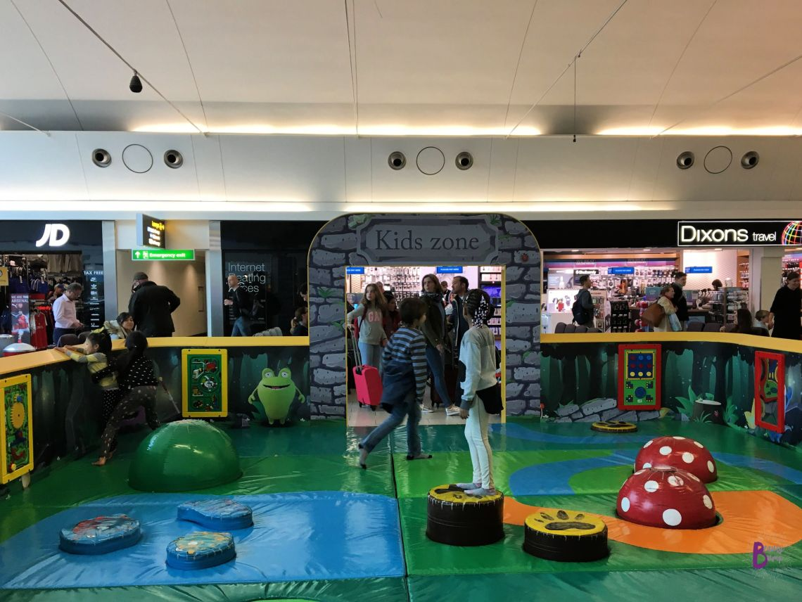 Look for kid-friendly airports when traveling