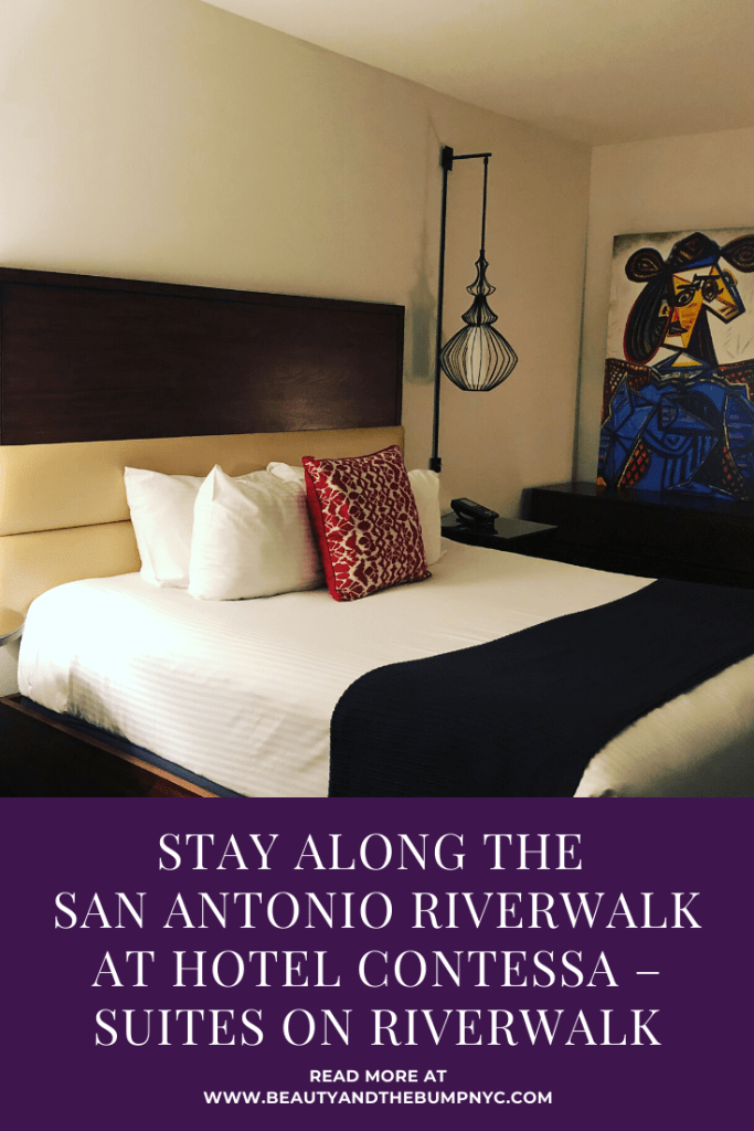 I spent two nights at the Hotel Contessa – Suites on Riverwalk. It's a beautiful four star, all-suite luxury hotel located on San Antonio's famed Riverwalk.