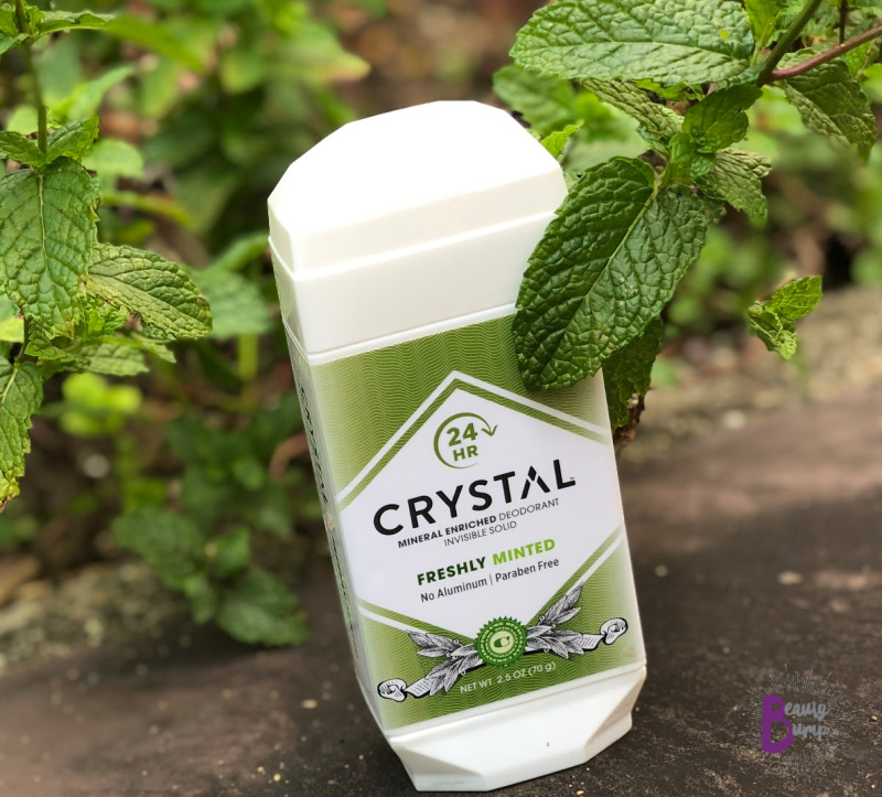CRYSTAL Mineral Enriched Deodorant - Freshly Minted offers refreshing minty scent.