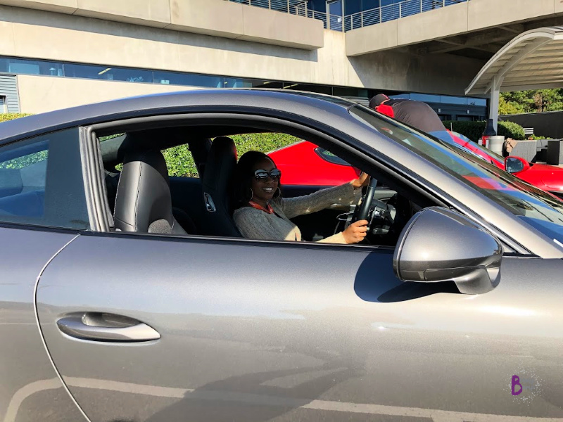 While at PEC Atlanta, in the 911 Carrera S, I picked up learning to maneuver the vehicle and safely react in wet and icy conditions on the Kick Plate and Wet, Low-friction circle.