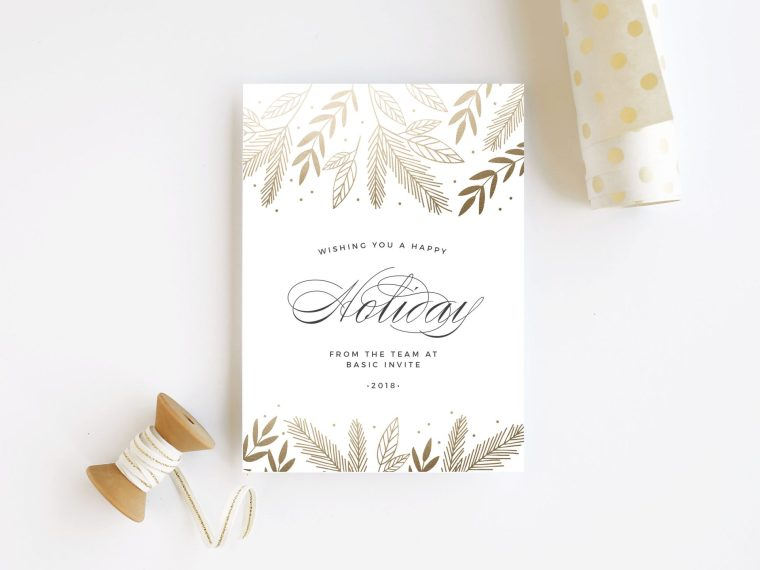 Basic Invite makes creating custom holiday Christmas cards and invitations easy. Offering 250+ designs, 180+ colors & more. Basic Invite discount code.
