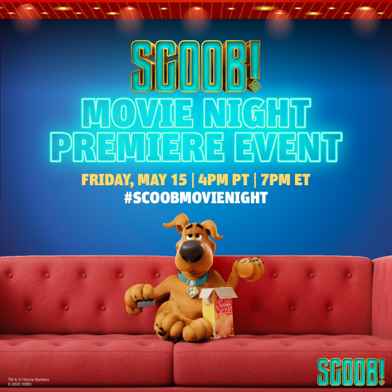 Downlad this FREE activity pack and join an EXCLUSIVE Movie Premiere Party on twitter Friday, May 15th at 7:00 pm EST #Scoob #ScoobMovieNight
