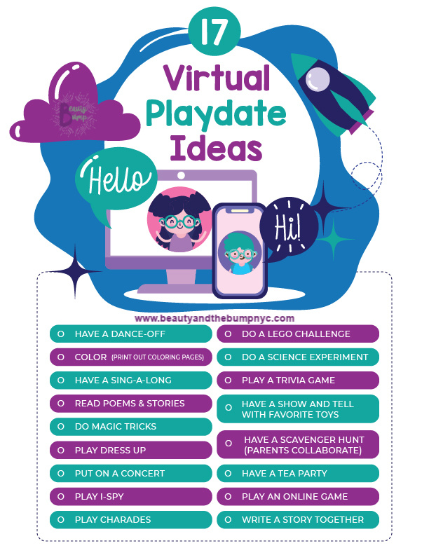 Looking for ways to help kids remain social? This list of 17 virtual playdate ideas will allow kids to enjoy playing with friends while social distancing