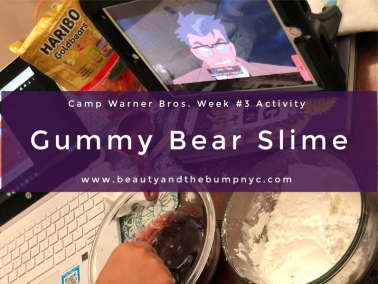 This week, which makes week #3 of Camp Warner Bros., in honor of the all-new release of We Bare Bears: The Movie I am sharing a fun sensory activity to do with your children: making gummy ear slime! Get ready for loveable bear hugs, digital culture references, life lessons while enjoying your gummy bear slime!