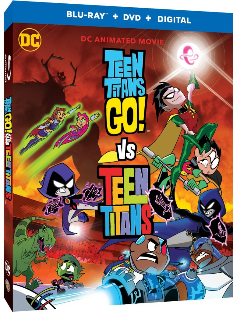 when the forces of evil unite from across time and dimensions, it'll take the combined efforts of distinctly different, yet similar Super Hero teams to keep the universe secure in the action-packed animated mash-up movie - Teen Titans Go! Vs. Teen Titans.