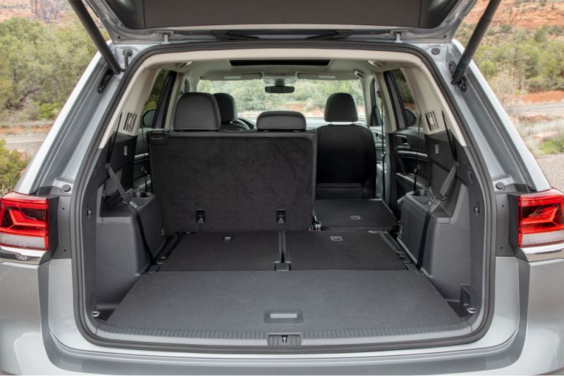 """This """"Swiss Army Knife"""" vehicle is ideal for the family on the go because you can easily switch out the seats in the middle row. The middle and back rows collapse for more cargo space. There is more cargo space in the Atlas than in any other3-row SUV in its class."""