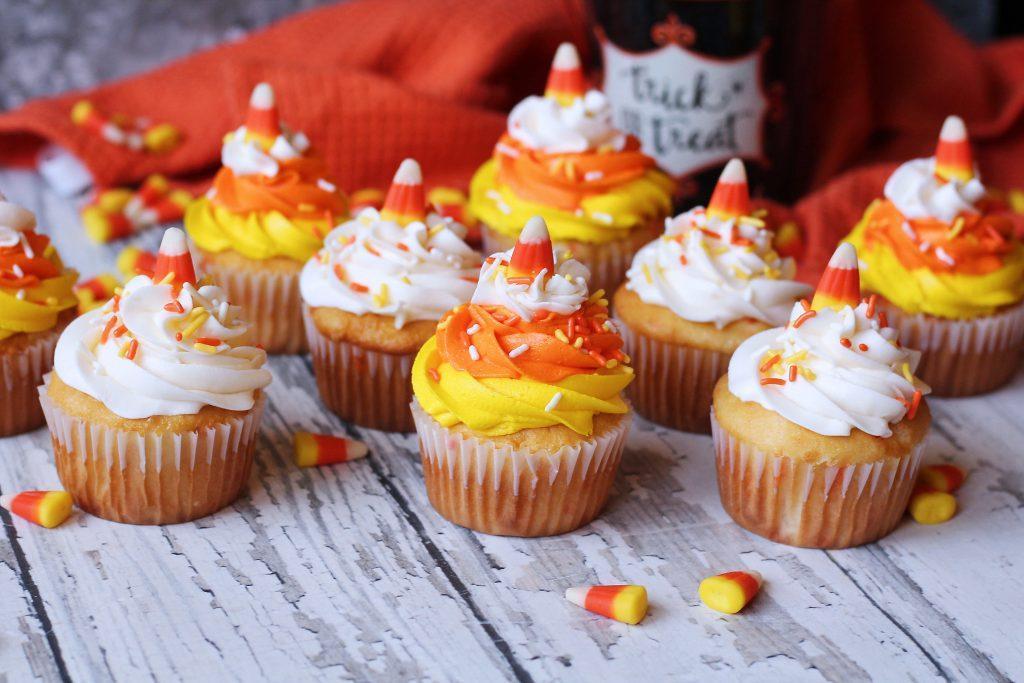 Halloween Cupcake Ideas - Candy Corn Cupcakes