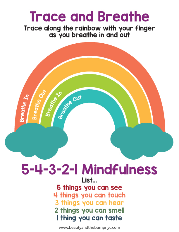 Trace and breathe mindfulness activity for kids