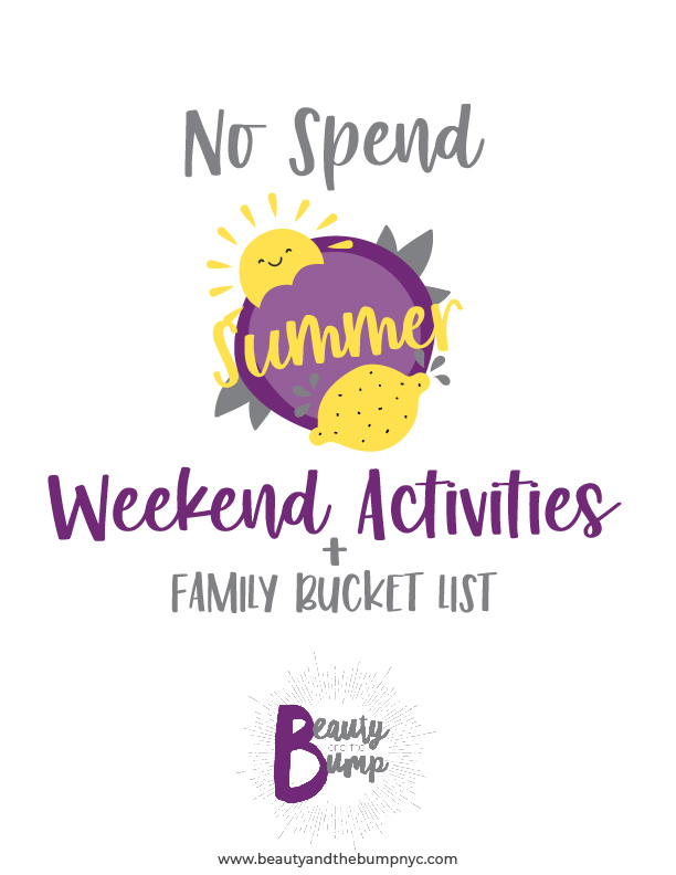 This no-spend challenge-friendly summer bucket list printable is full of activities to enjoy every weekend.