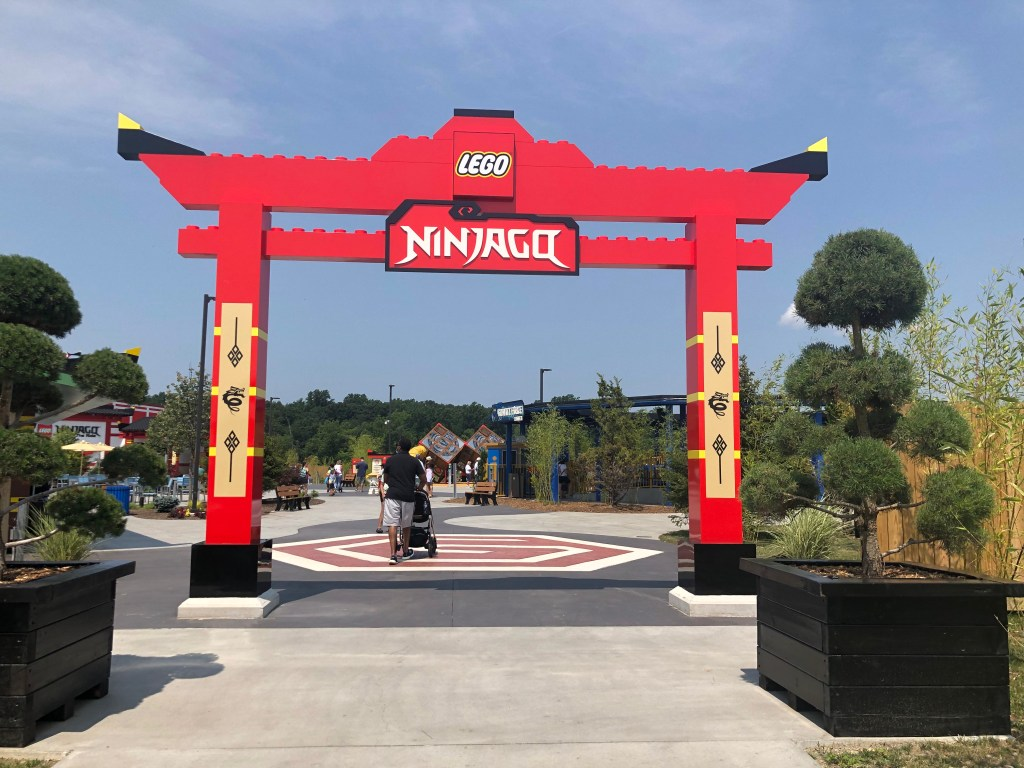 LEGO NINJAGO The Ride This fun interactive ride allows riders to live the Ninjago storyline. My husband and daughter enjoyed NINJAGO The Ride a lot! They came off excited and giggly explaining how much they had to use their hands throughout the ride battling evildoers using their Ninja powers.