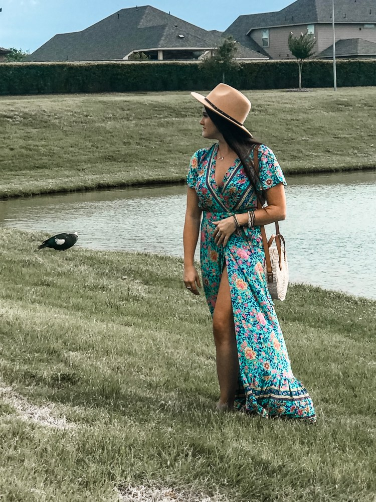 I bought the Amazon Wrap Dress that everyone has been talking about lately! See my review and how I style the dress! #amazonfinds #amazonfashion #ootd #wrapdress #zesica #zesicawrapdress #amazonwrapdress #blogpost #review #amazon #fashion #style #boho #bohostyle #summer #summerfashion #summerstyle #affordable #affordablefashion