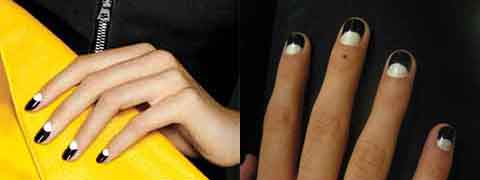 Left Black And White Nails From Instyle Right Diy Design