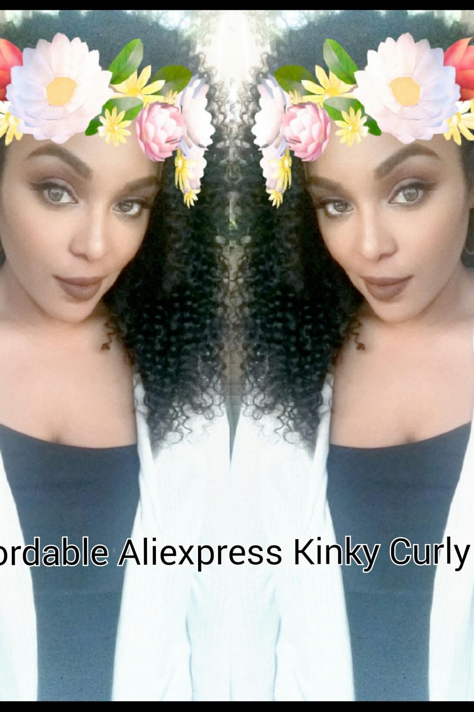 Affordable Aliexpress Kinky Curly Human Hair U-Part Wig