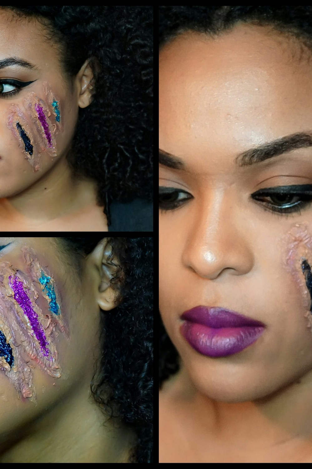 Black Girl Magic – Halloween Makeup: Fake wounds and Glitter Blood