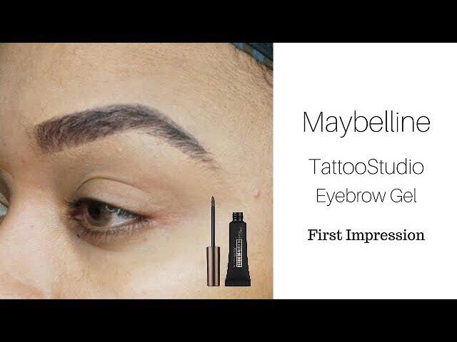 Maybelline Tatoo Studio Brow Gel| First Impression