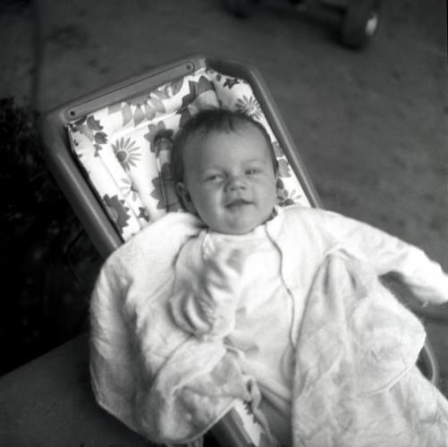 "01 Jan 1975 --- ""Portraits of baby Leonardo DiCaprio photographed Los Angeles, CA. 1975. --- Image by © Peter Fleming/Retna Ltd./Corbis"
