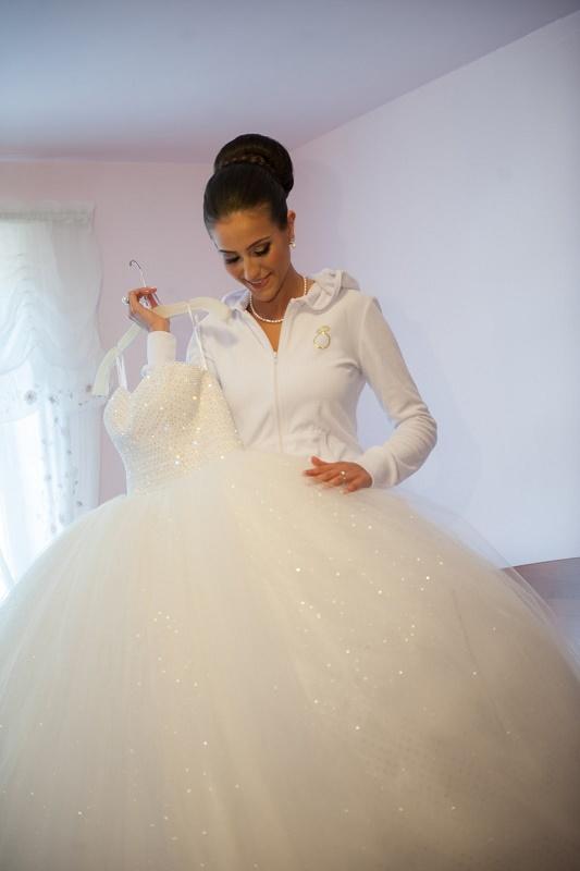 monica's bridal dress