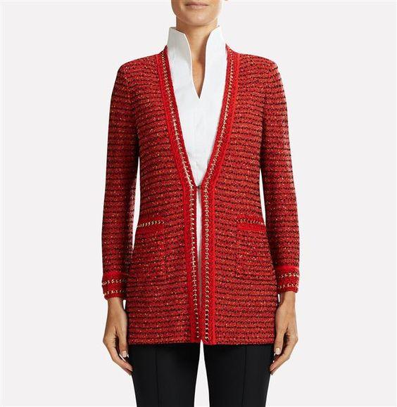 Multi Tweed With Gold Trim Jacket