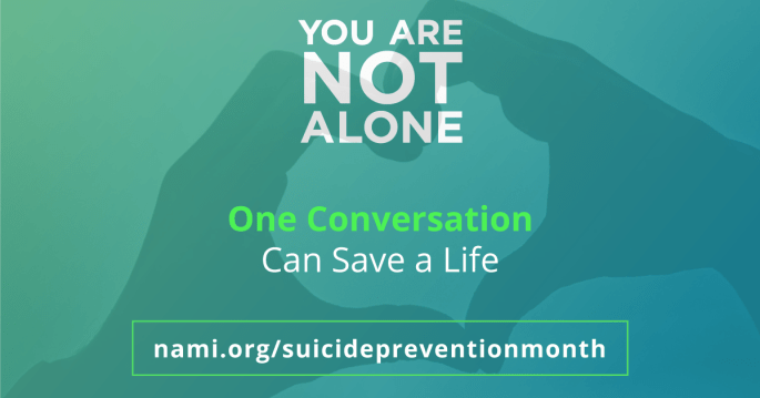 You are not alone one conversation can save a life