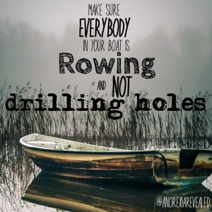 Old Rowboat Floating On A Foggy Lake HD Desktop Background