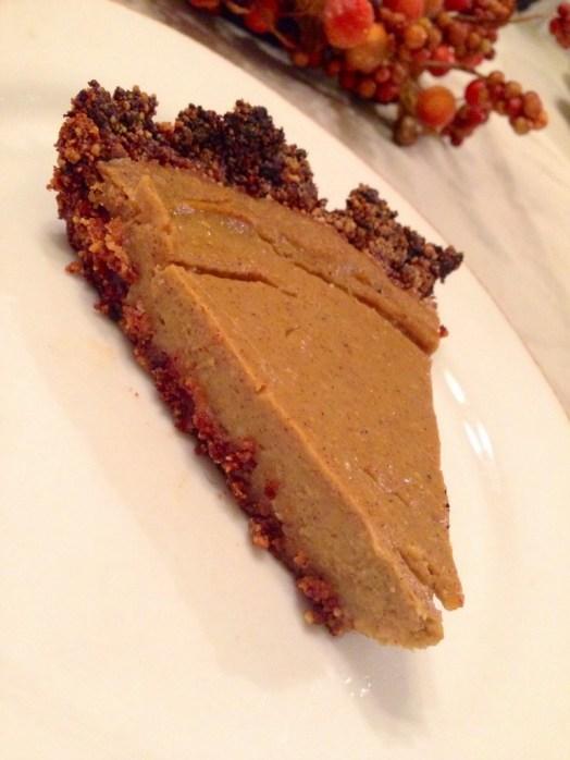 Paleo Pumpkin Pie by BeautyBeyondBones #edrecovery #glutenfree #vegan #food #dessert #thanksgiving #pumpkin