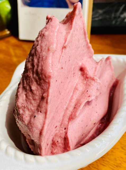 Watermelon Blackberry Ice Cream by BeautyBeyondBones! #dessert #food #glutenfree #vegan #paleo #specificcarbohydratediet #edrecovery