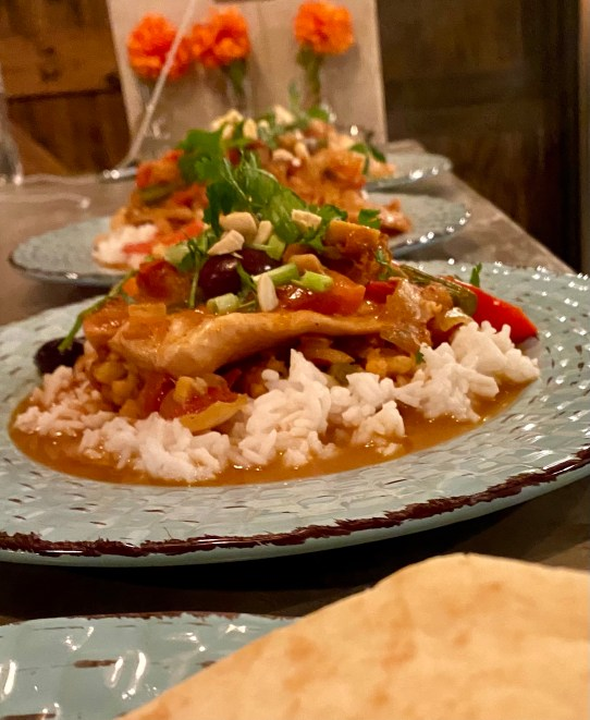 Curry Poached Sea Bass by BeautyBeyondBones! #edrecovery #food #glutenfree #grainfree #paleo #curry #health #healthyfood #specificcarbohydratediet #wellness #dinner