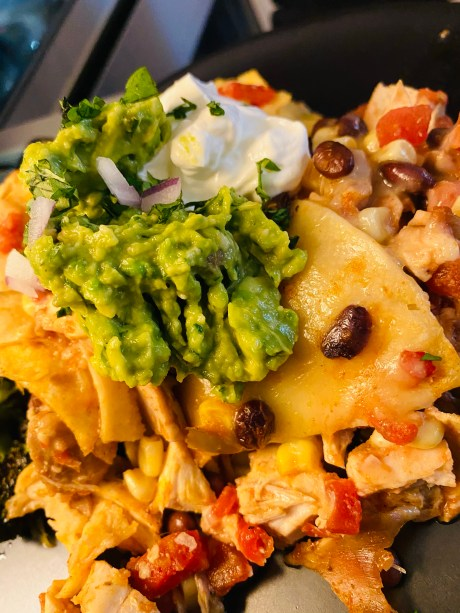 Mexican Tortilla Casserole by BeautyBeyondBones. #healthyfood #glutenfree #food #paleo #dinner #cooking #mexicanfood #avocado #guacamole #edrecovery