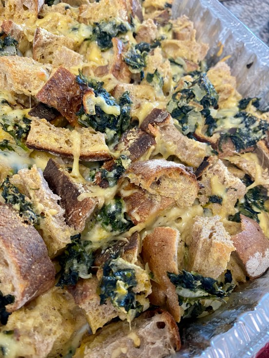 Spinach and Cheese Brunch Strata! by BeautyBeyondBones #food #brunch #recipes #vegetarian #breakfast #eggs #savory #edrecovery