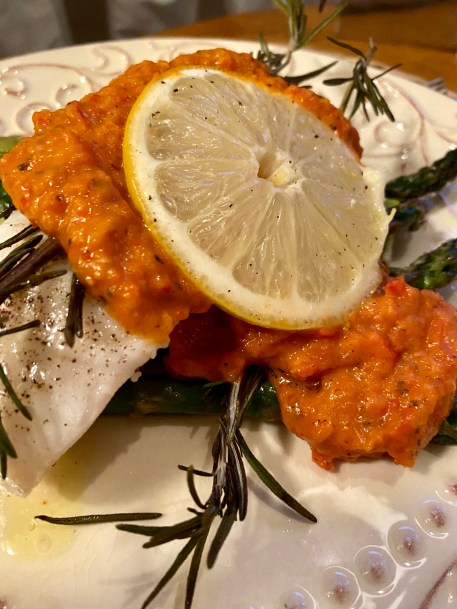 Smothered Sea Bass in a Roasted Tomato and red pepper sauce! by beautybeyondbones #food #glutenfree #vegan #paleo #keto #healthy #healthyfood #yum #edrecovery