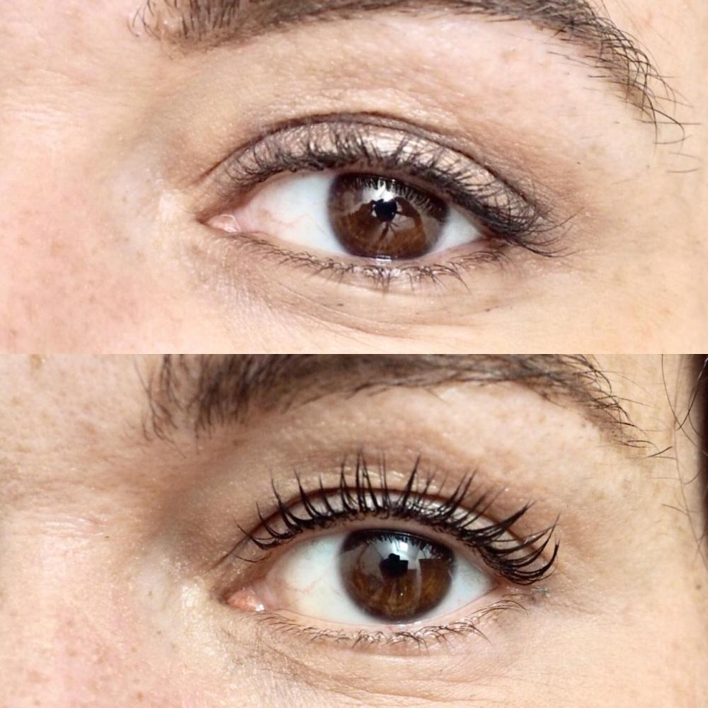 LVL Lash Enhance Treatment Review- Before and After, Front View