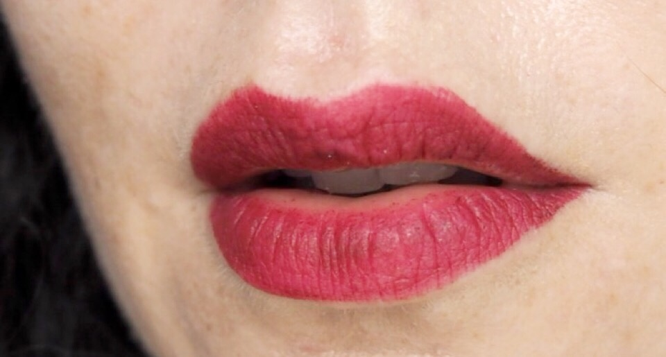 Rimmel Stay Matte Liquid Lipstick- End of Day Lip Swatch- Plum This Show