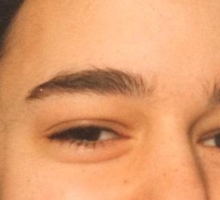 how to grow back overplucked 90s eyebrows- before i started plucking- taken at 14years old- full dark brows
