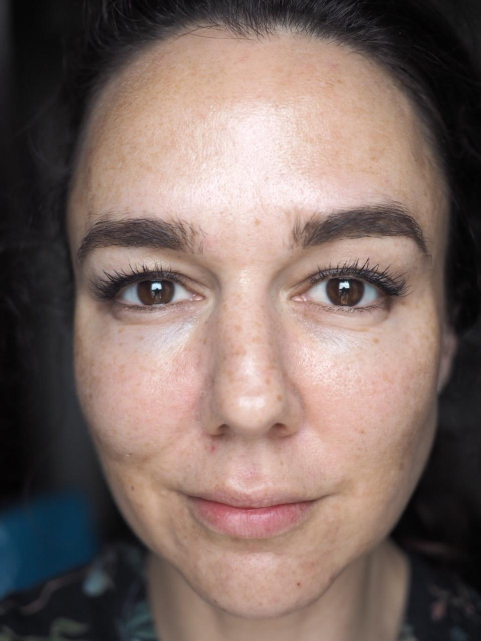 Nannic Radio Frequency Facial Treatment- the Day Before (with just a bit of brow makeup but otherwise clean face)