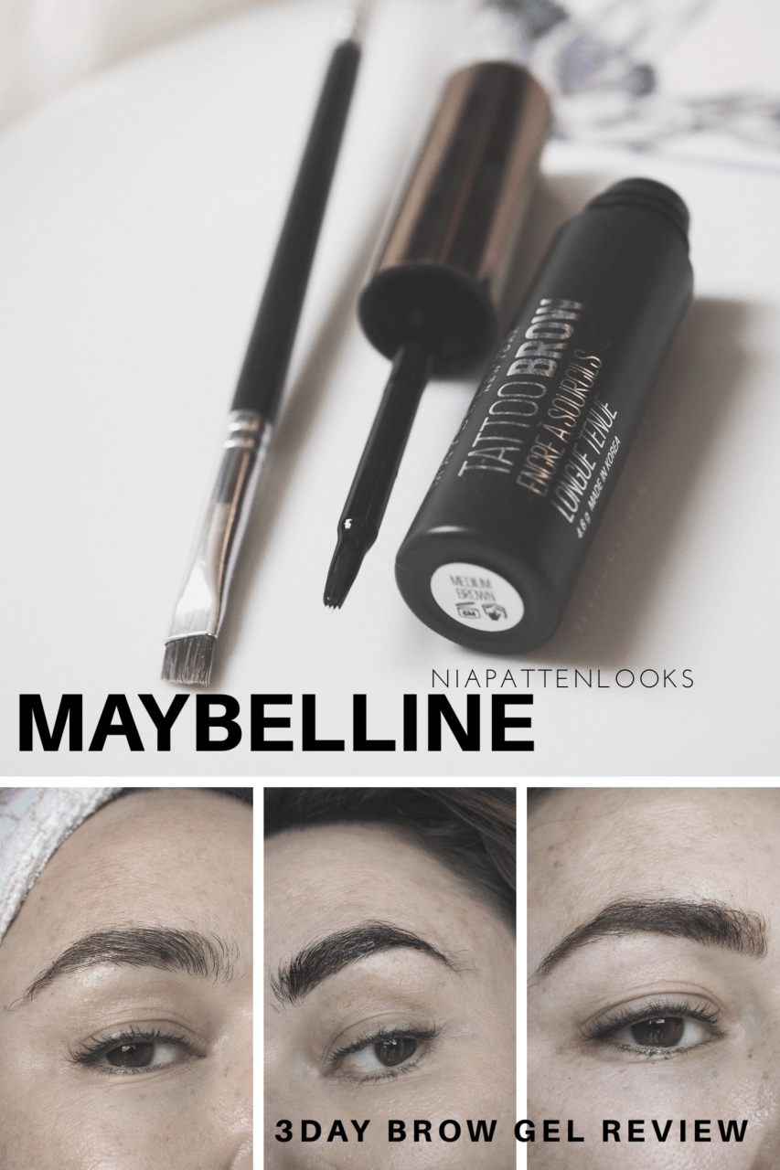 Maybelline Tattoo Brow peel off semi permanent brow Tint pinnable graphic