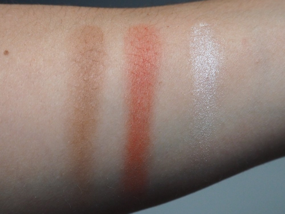 Freedom House of Glam Dolls Exotica Dolls Palette Swatches- Bronzer, Blusher and Highlighter