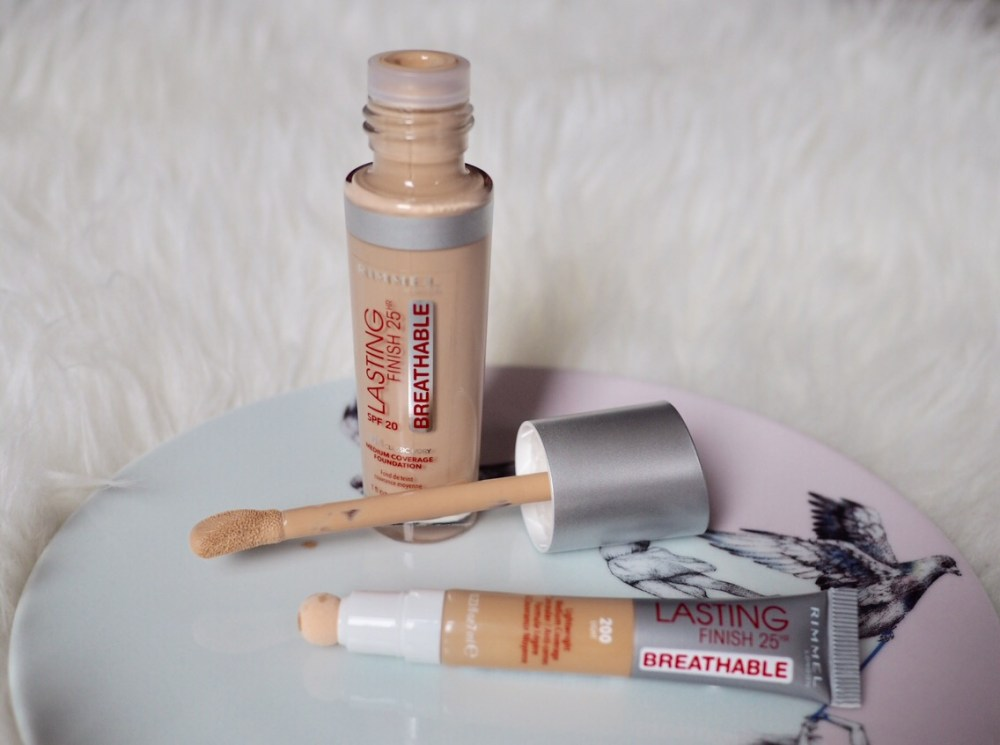 Rimmel Lasting Finish Breathable Foundation and Concealer- glass foundation bottle and plastic tube
