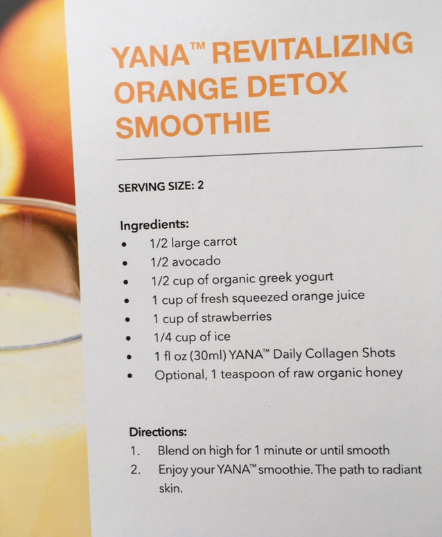 Yana Daily Collagen Shots by Image Skincare- Sample Recipe