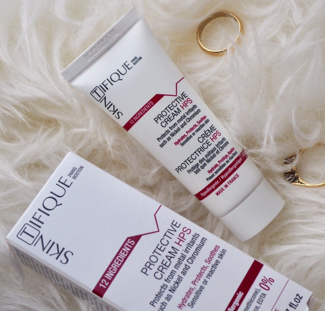 Skintifique Protective Cream HPS and Cleanser P Review- white tube and box on white fur