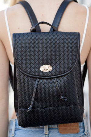Braided Leather Backpack ($37)