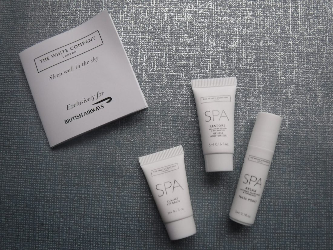 White company SPA skin products