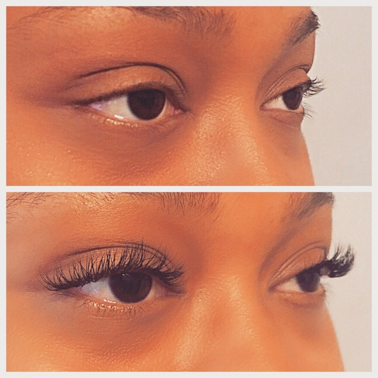 Lash Extension Before & After