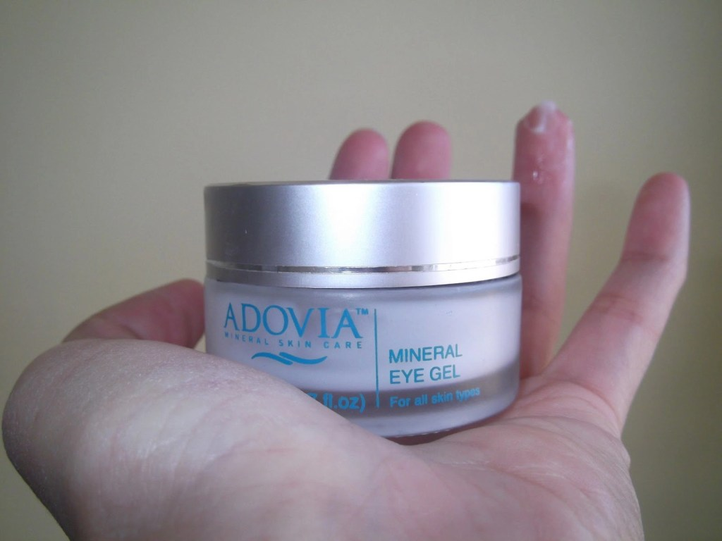 Adovia Dead Sea Mineral Eye Gel in hand