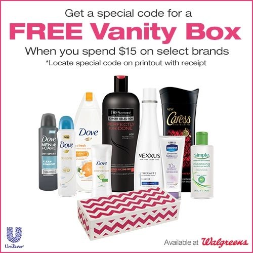 Free Vanity Box with $15 Purchase at Walgreens!
